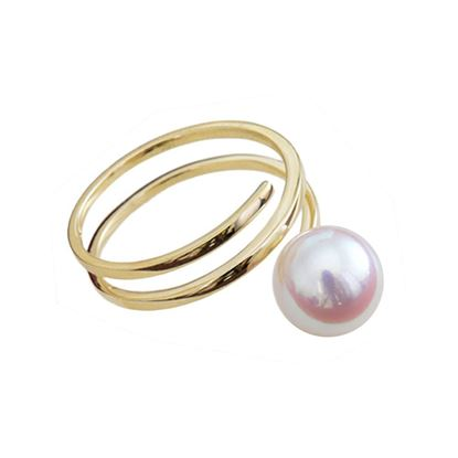 Picture of 18K Gold Akoya Pearl Muti-Ring