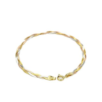 Picture of 18K Colored Gold Three-Strand Braided Bracelet