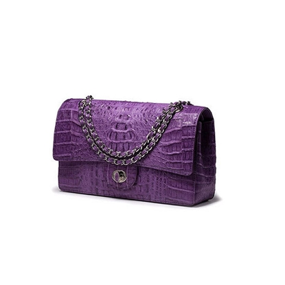 Picture of Ziomee Handmade Custom  Crocodile Chain Bag (Purple)