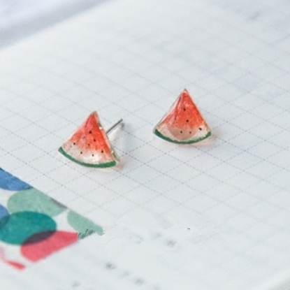 Picture of Handmade Earrings - Watermelon