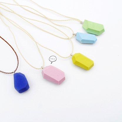Picture of Handmade Ceramic Necklace - Polyhedron