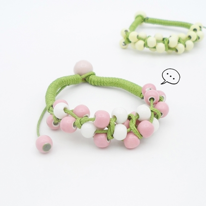 Picture of Hand-knitted Ceramic Beads Bracelet