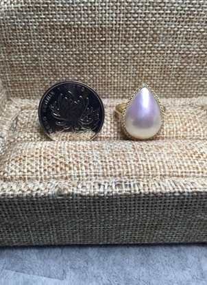 Picture of Waterdrop Mabe Pearl Ring