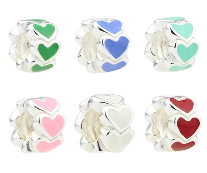 Picture of Beadhunter Basics C-shape Bracelet Matching Bead - Love Heart