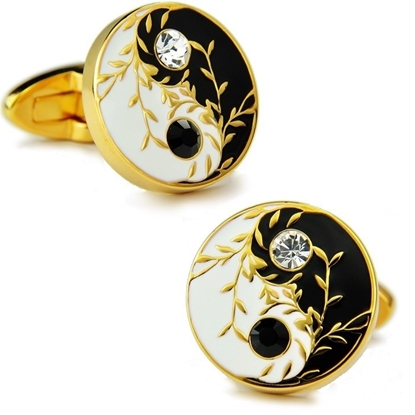 Picture of French Cufflinks - Gilding / Chinese TAI CHI