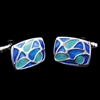 Picture of French Cufflinks - Sparta Enamel / Blue Melody