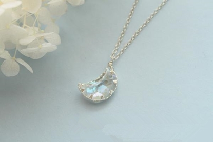 Picture of La Habana Girl Handmade Crystal Moon or Star Sterling Silver Short Necklace