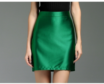 Picture of F/W Yihui Autumn Lady Gloss Satin H-line Skirt