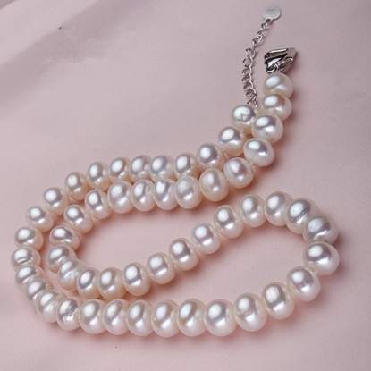 Picture of Vivi Steamed Bun Shape 10-11mm White Great Freshwater Pearl Pendant